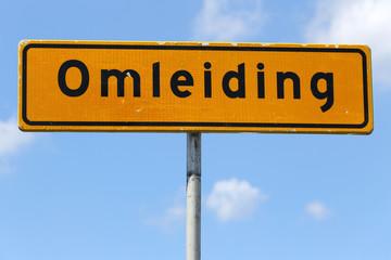 niederländisches Verkehrszeichen: Umleitung