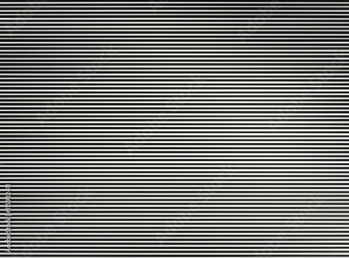 Horizontal black and white interlaced tv lines abstraction
