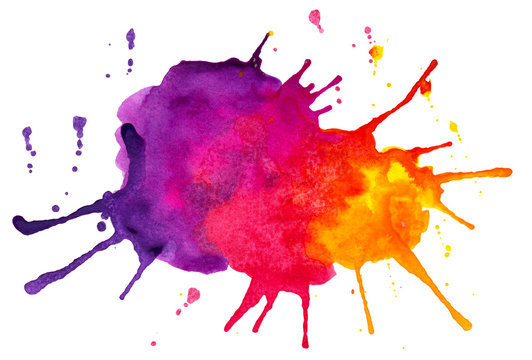 Abstract colorful spots and splashes