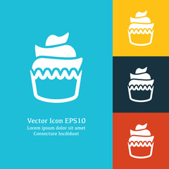 Vector illustration of cupcake icon