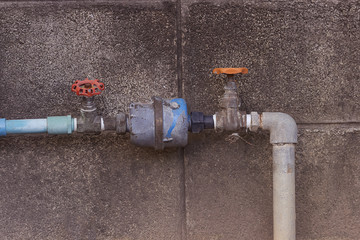 water pipe with meter