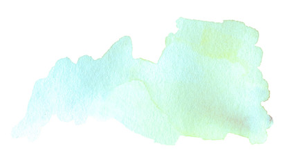 Abstract watercolor splash. Watercolour drop. Colorful ink spot