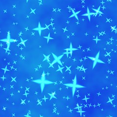 Bokeh star blue colour abstract background. Star blue.