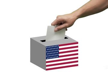 Wahlzettel wird eingeschmissen
