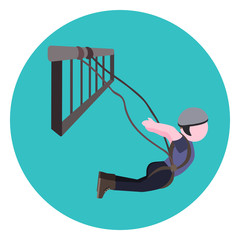 bungee jumping flat icon