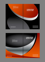 Vector brochure, flyer, magazine cover & poster template. three Pages.