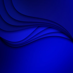 Blue background dimension three dimensional graphic message board for text and message design line shadow for modern web design