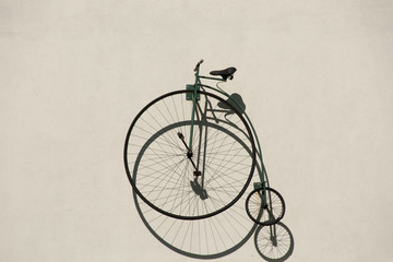 Penny-Farthing Bicycle on Wall
