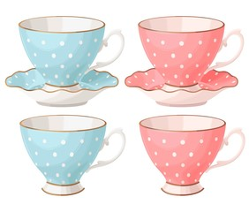 Set of teacups