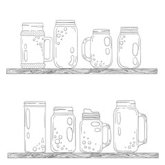 Jars for smoothies and lemonades.