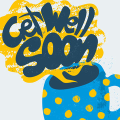 Get Well Soon Decorative Card.