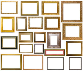 Beautiful golden frame for paintings and photos
