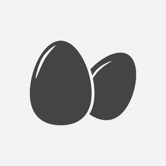 Egg Icon. Flat vector illustration on grey background