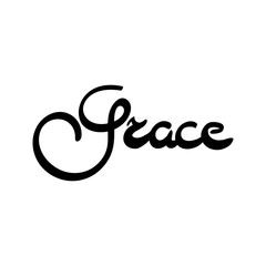 Female name - Grace. Hand drawn lettering.