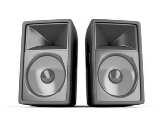 Two big loudspeakers