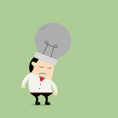 Tired Businessman. Business concept cartoon illustration