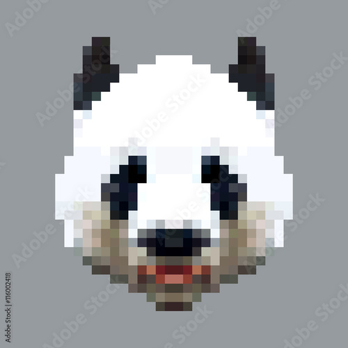u0026quot panda head pixel art vector  isolated square animal u0026quot  stock image and royalty
