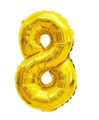 number 8 (eight) from balloons