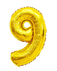 number 9 (nine) from balloons