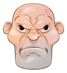 Mean Angry Cartoon Man