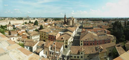 panoramica di Cittadella (Padova)