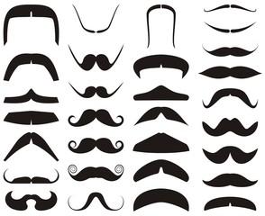 Mustaches vector set