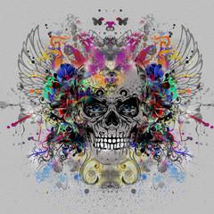 череп, рисунок на футболку