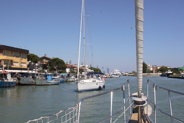 porto garibaldi entrata del porto