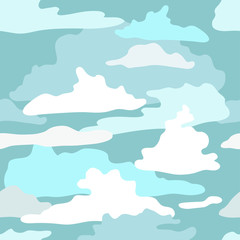 pattern with the image of clouds. Vector