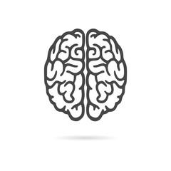 Brain icon, Brain Logo silhouette
