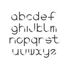 Line and circle latin font