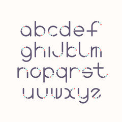Line and circle latin font