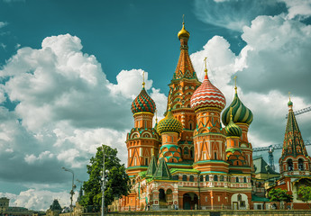 Fotobehang Moskou St. Basil`s Cathedral in Moscow