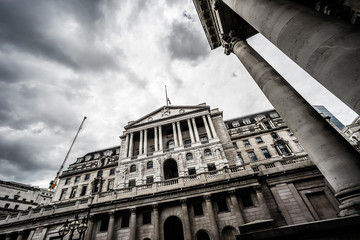 The Bank of England, Threadneedle Street, City of London, UK.