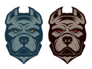 Pit bull mascot.