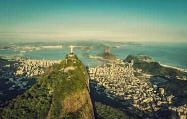 Aerial view of Botafogo Bay and Sugar Loaf Mountain, Rio De Janeiro