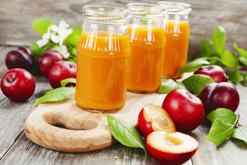 Fresh plum juice