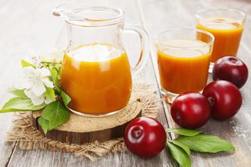 Fresh plum juice