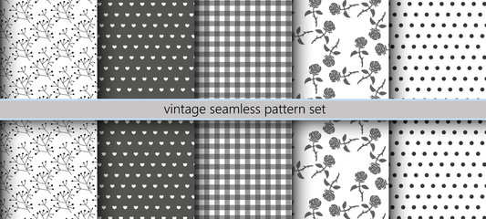 Vintage Seamless Pattern Set