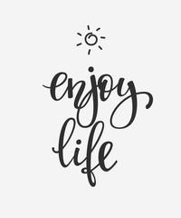 Enjoy Life quote typography