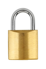Metal yellow padlock