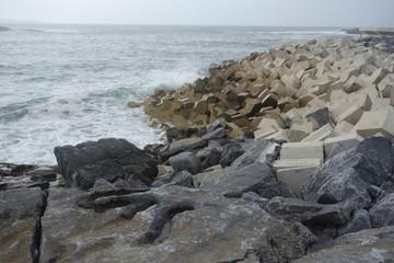 plage de sable fin et cote irlande