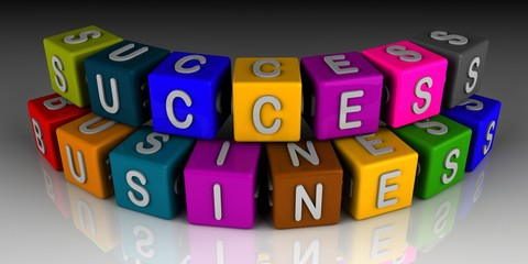success business in colourful cubes