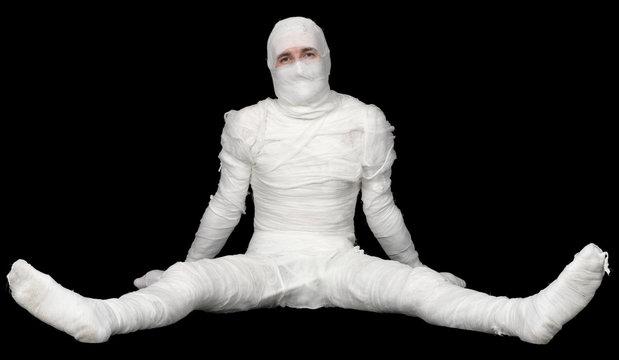 Egyptian mummy on a black background