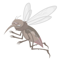 Flies great and evil mosquitoes drink blood