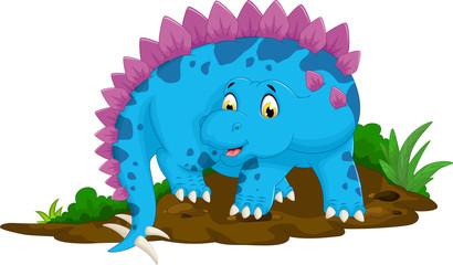funny stegosaurus cartoon for you design