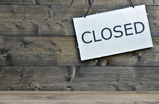 Closed on wooden table