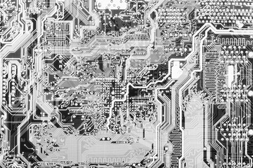 Abstract technological monochrome circuit background
