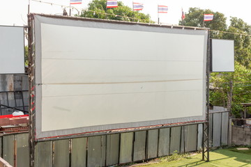ancient movie screen outdoor in Thailand