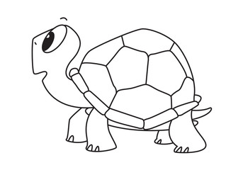 cartoon turtle, vector